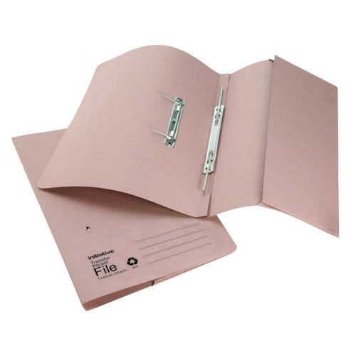 Initiative Transfer Spring File With Pocket Foolscap 285gsm Buff