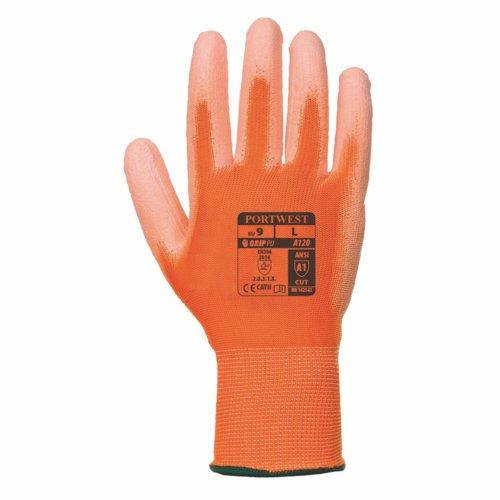 PU Palm Glove Orange XS/6XXL/13 Pack 480