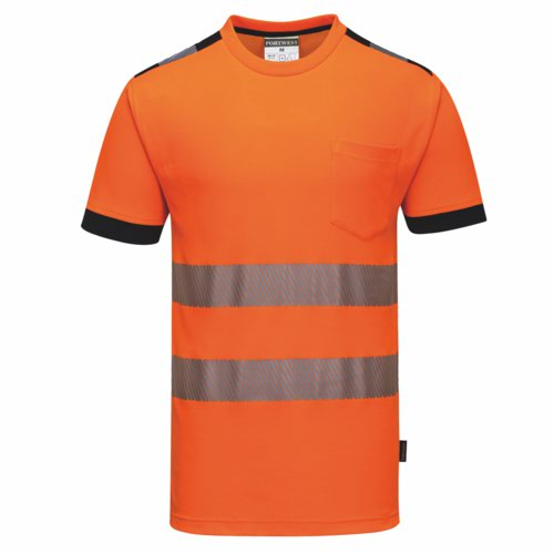 Vision HiVis TShirt S-4XL Orange Pack 48