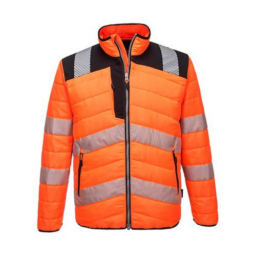 PW3 Hi-Vis Baffle Jacket Orange/Black LR