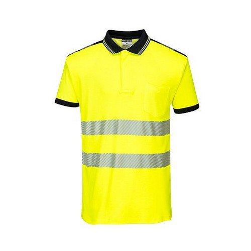 PW3 Hi-Vis Polo Shirt S/S Yellow/Black LR