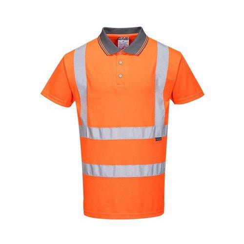 Hi-Vis S/S Polo Shirt RIS Orange LR