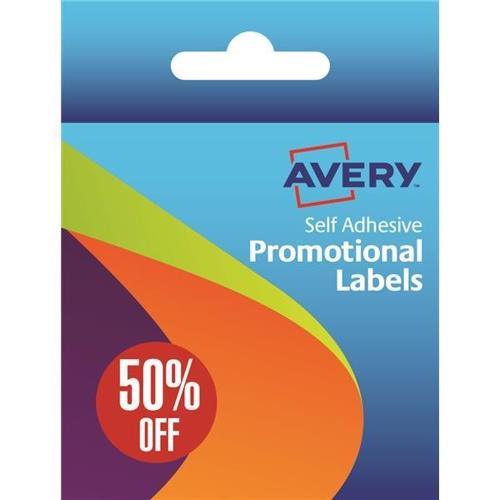 Avery Pre-Printed Label Dispenser 50 Percent Off 24mm 50-126