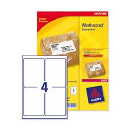 Avery Weatherproof Shipping Labels 99.1 x 57mm 25 Sheets/100 Labels Pack 25