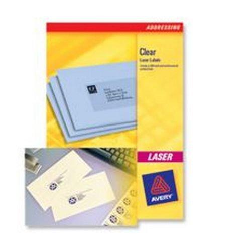 Avery Mini Laser Labels 38.1 x 21.2mm 65 Per Sheet Clear 1625 Labels