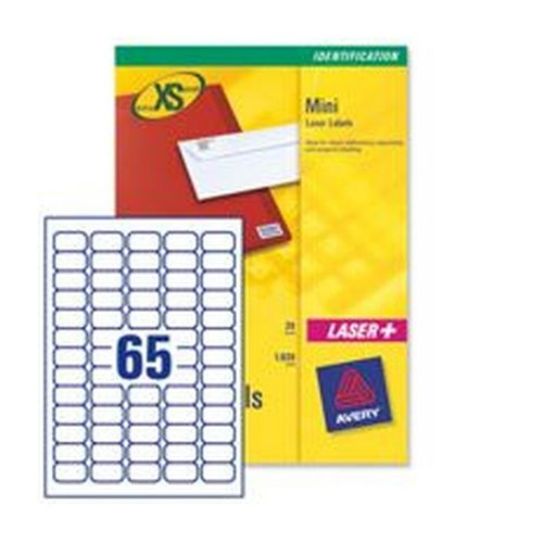 Avery Inkjet Labels 38.1x21.2mm 65 Per Sheet White 1625 Labels