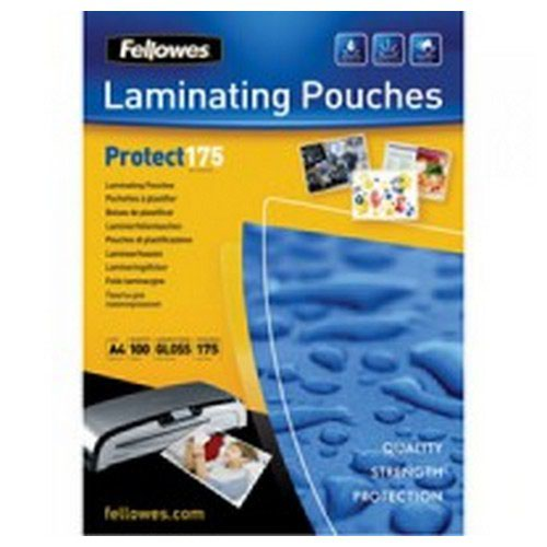 Fellowes A4 Protect Laminating Pouch 350 Micron (Pack of 100) 53087