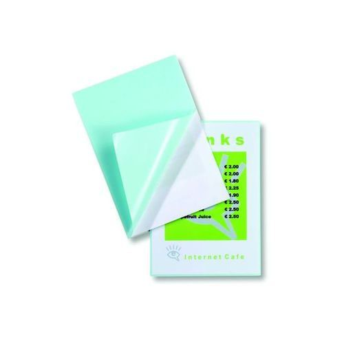 GBC Peel and Stick A4 Laminating Pouch Self Adhesive Gloss 250 Micron Clear (Pack of 100) 3747243