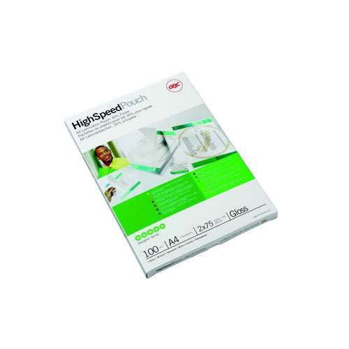 GBC High Speed A4 Laminating Pouch 150 Micron (Pack of 100) 3747347