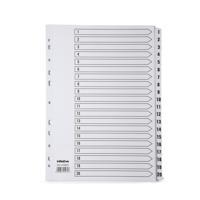 Initiative White Board A4 160gsm Divider 1-20 Mylar Tab