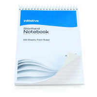 Initiative Shorthand Notebook 300 Pages 203x127mm (8 x 5 Inch) 60gsm