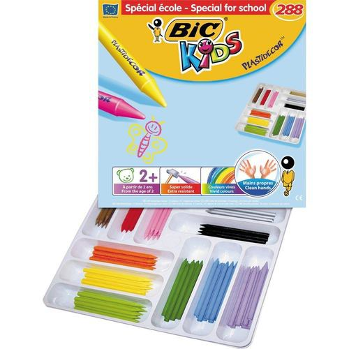Bic Kids Plastidecor Colour Crayons Assorted Box of 288