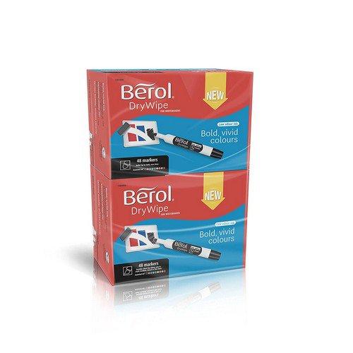 Berol Dry Wipe Marker Chisel Pk96 - Asstd