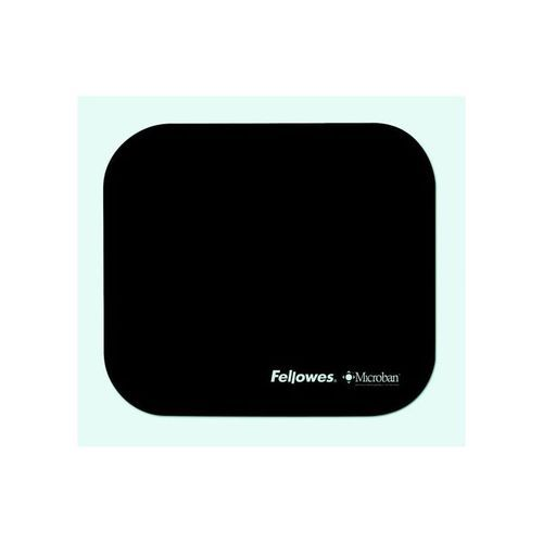 Fellowes Microban Mouse Mat Black (Pack of 1) 5933905