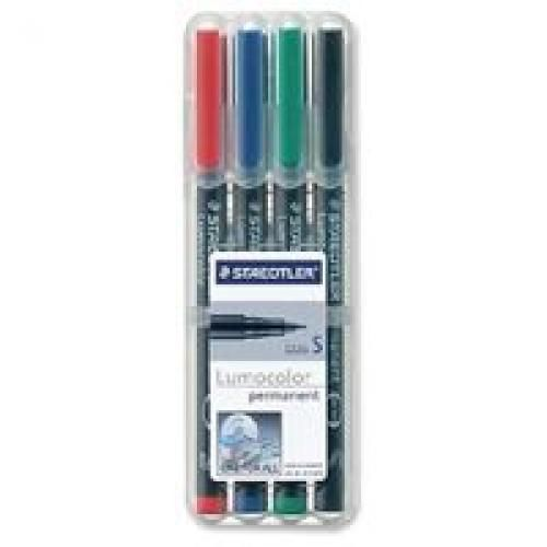 Staedtler 313 Lumocolor Pen Permanent Superfine 0.4mm Assorted Wallet 4 Code 313WP4