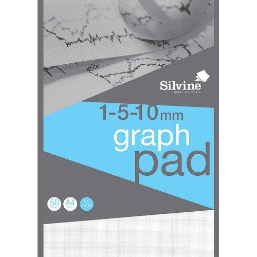 Image for Chartwell A4 Graph Pad 50 Leaf 1/5/10mm J14B