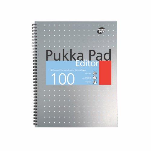 Pukka Pad Writing Pads Editor Metallic A4 80gsm 100 Pages