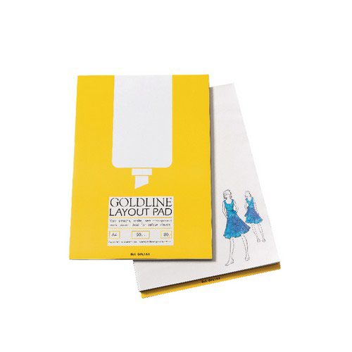 Image for Goldline A4 White Layout Pad GPL1A4