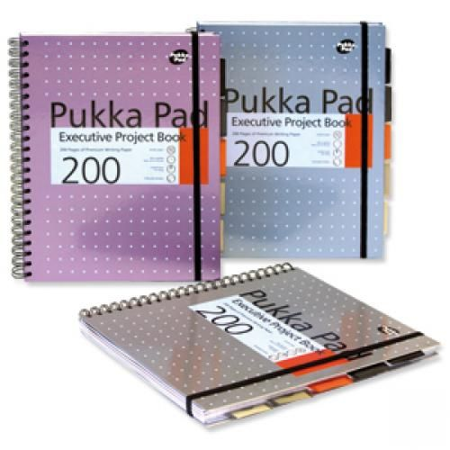 Pukka A4 Executive Metallic Project Book 200 Pages 80gsm