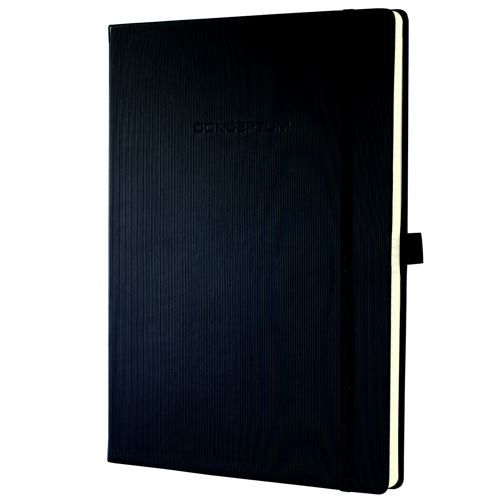notebook conceptum hardcover a4 black lined 194 pages personal