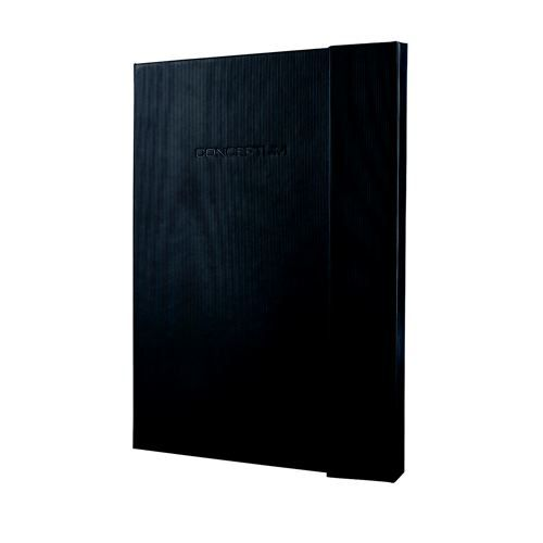 notebook conceptum hardcover a4 black lined 194 pages magnetic