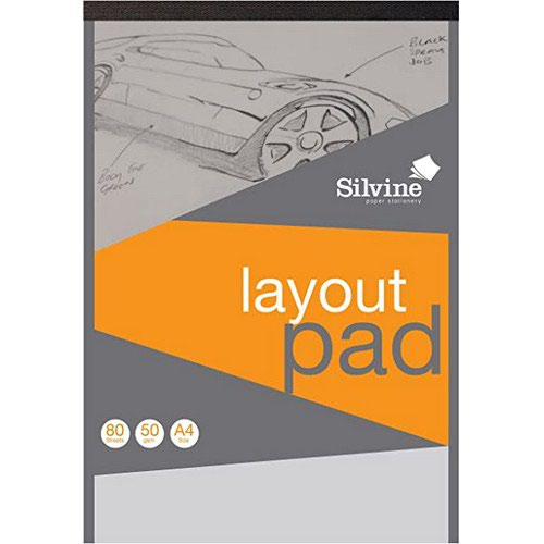 Image for Silvine A4 Layout Pad Acid free 50gsm 50 Sheets
