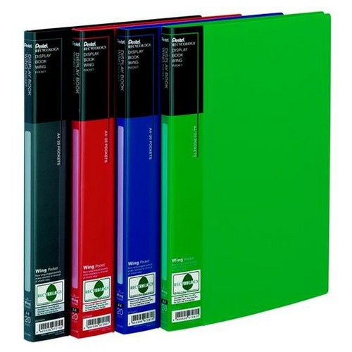 Pentel Recycology A4 Display Book 20 Pockets Black PK10