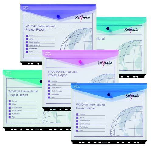 Polyfile RingBinder Wallet HC/P Electra Assorted Pack 5