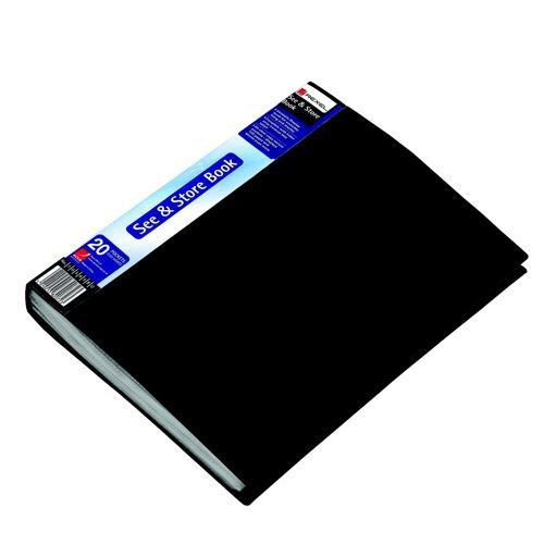 Rexel See & Store Display Book 20 Pocket A4 Black