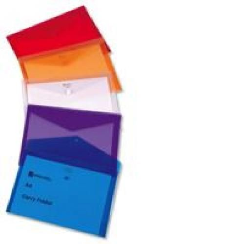Rexel Carry Folder A4 Polypropylene White Pack 5