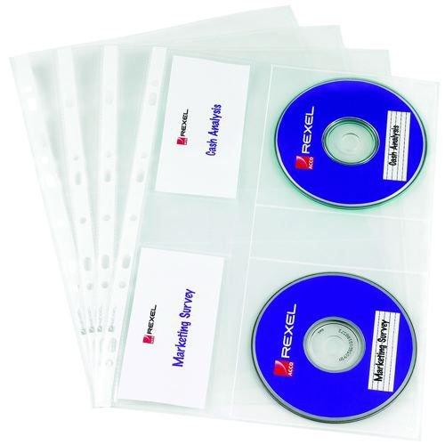 Rexel Nyrex CD Pocket Pack 5