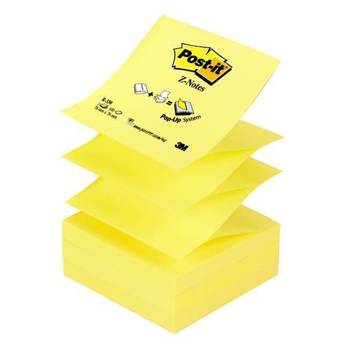3M Post-It Z Notes 3x3 Yellow