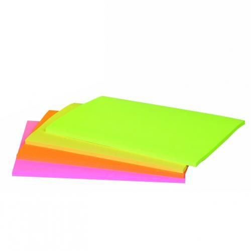 5bd6ea655ce Post-it Meeting Notes Super Sticky Neon Assorted 200 x 149mm (Pack of 4