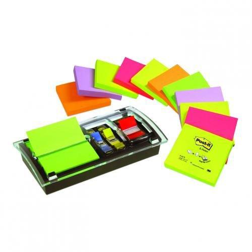 Post-It Z Notes Millenium Dispenser Combi Dispenser To Hold Z Notes & Indexes