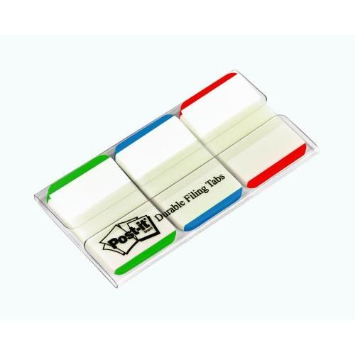 3M Post-It Index Strong Green Blue and Red 25mm