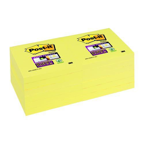 3M Post-It SuperSticky 3x3 Canary Yellow