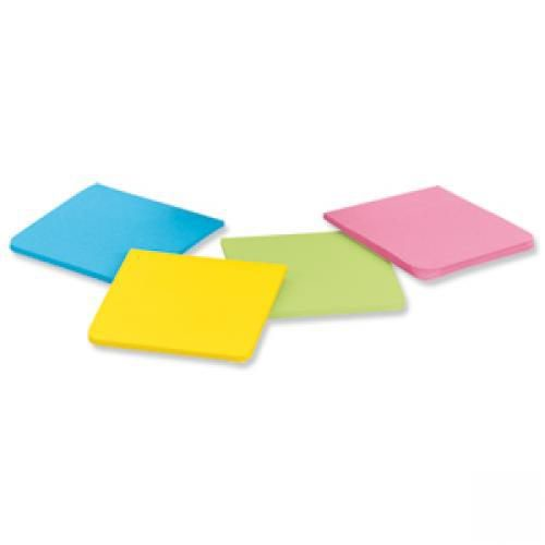 Post It Super Sticky Full Adhesive 76 x 76 Notes Assorted Pack 4