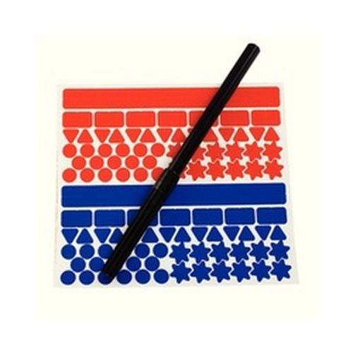 Image for Planner Kit Contains One Black Drywipe Pen And 4 Self Adhesive A6 Sheets Blue/Red/Orange/Yellow