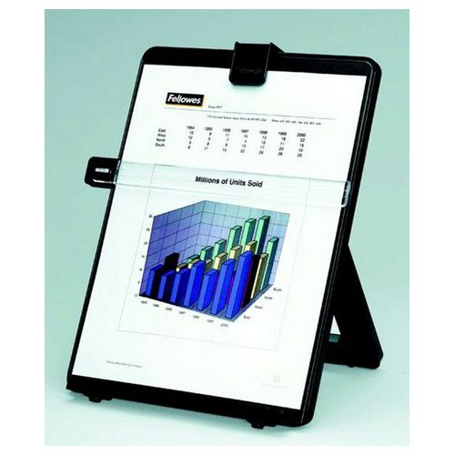 Fellowes Workstation Copyholder Easel Capacity 10mm With Line Guide A4 Black