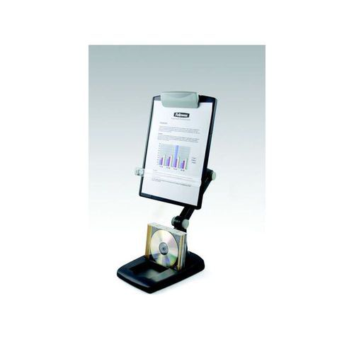 Fellowes Flex Arm Weighted Base Copy Holder Graphite