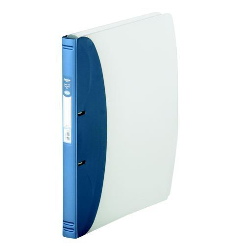 Hermes Ring Binder Heavy Duty A4 Polypropylene Metallic Blue 332207