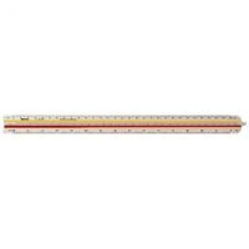 Rotring Ruler Triangular Reduction Scale 1 Architect 1-10 to 1-1250 2 Colr Flutings