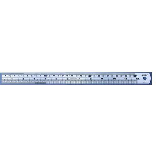 Linex Ruler Stainless Steel Imperial And Metric With Conversion ...