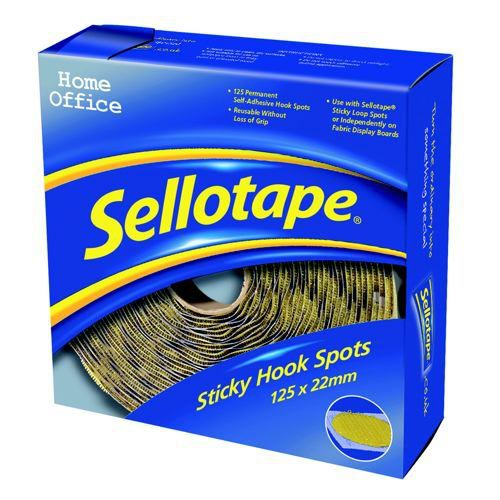 Sellotape Sticky Hook Spots 22mm Pack 100
