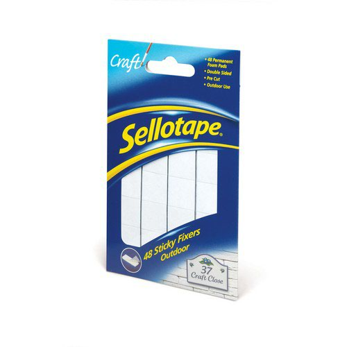 Image for Sellotape Sticky Fixers Outdoor Pack of 48 20x20mm