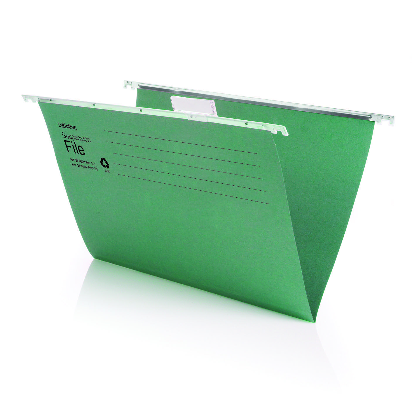 Initiative Suspension File With Tabs and Inserts Foolscap 215gsm Pack 50 Recycled