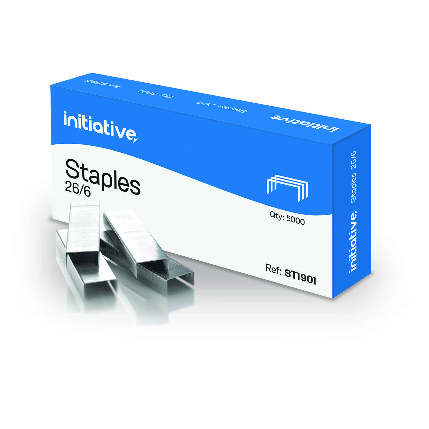 Initiative Staples 26/6mm 210 Staples Per Strip Pack 5000