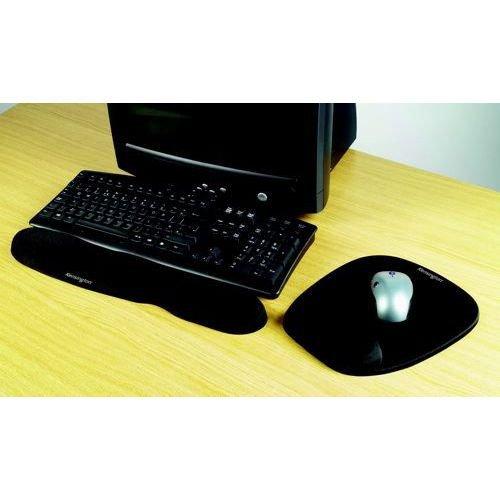 Kensington Foam Mouse Pad With Integral Wrist Rest Black 62384
