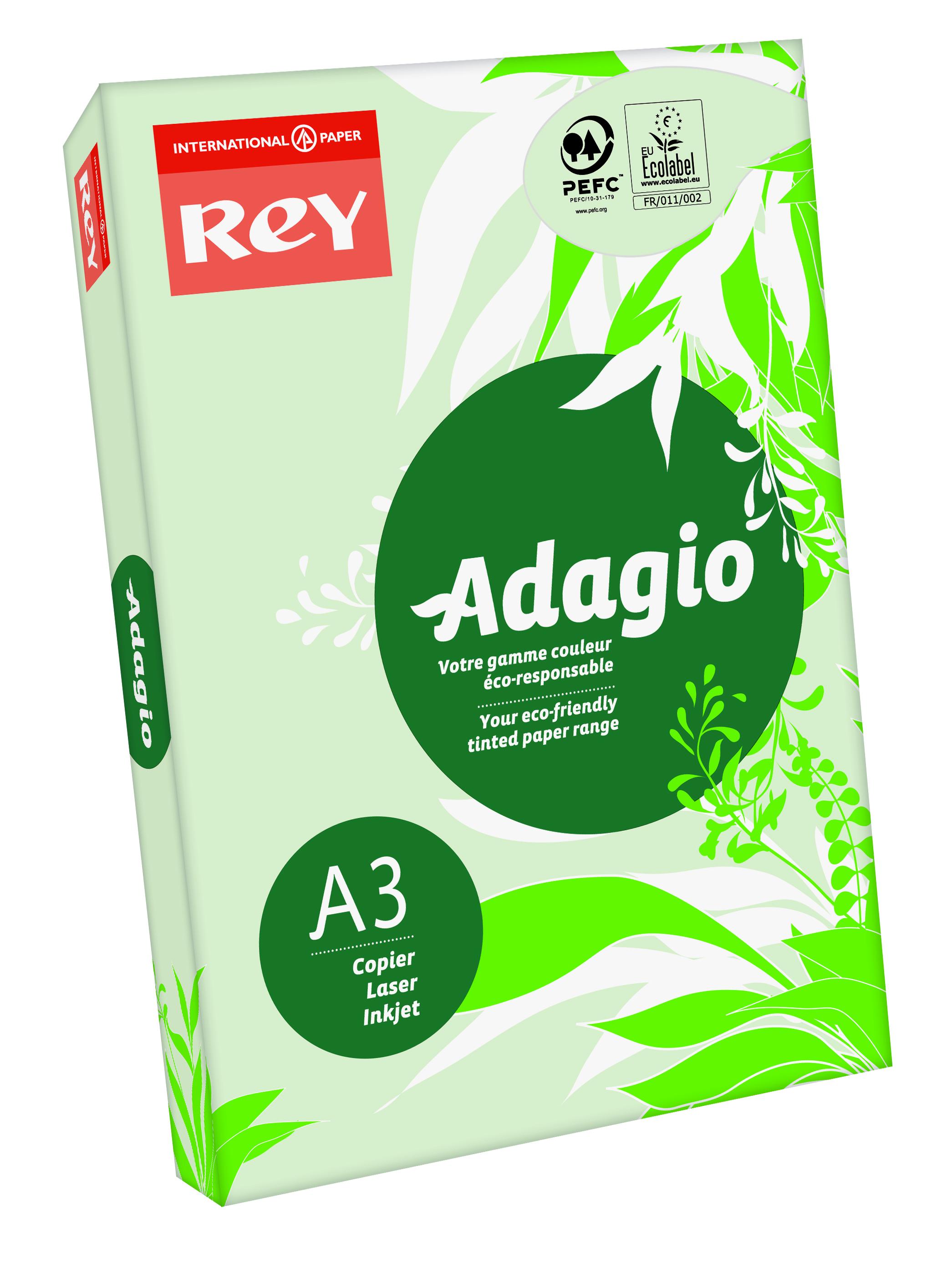 A3 Rey Adagio Paper A3 80gsm Green (Ream 500)