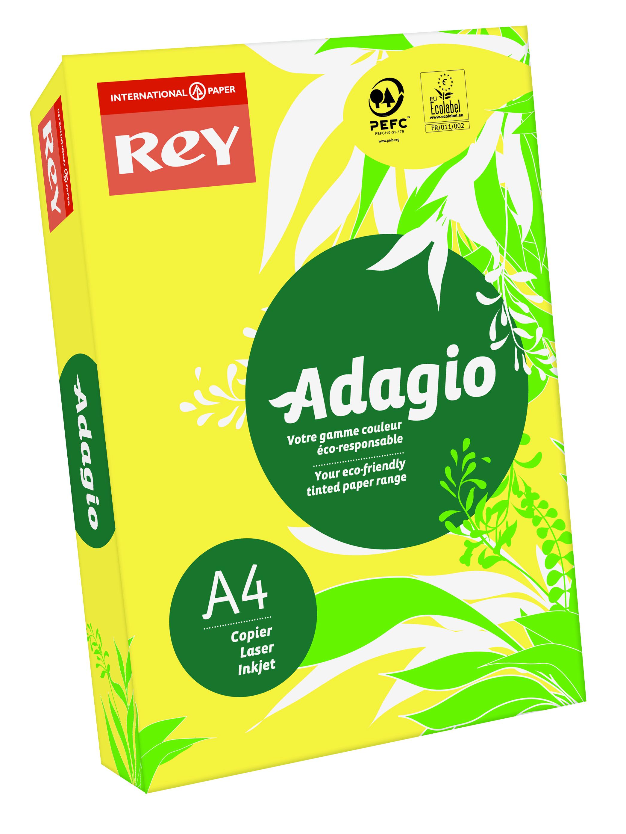 Rey Adagio Paper A4 80gsm Citrus (Ream 500)